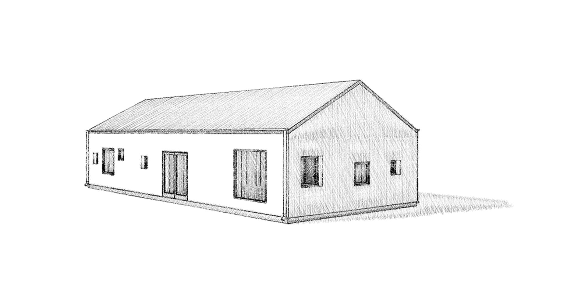 Sadeltak AChoice stenhus