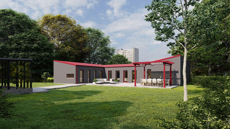 Minimalistisk 02 grå fasad